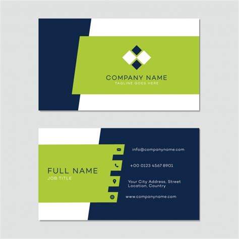 business card templates free business card template vector free