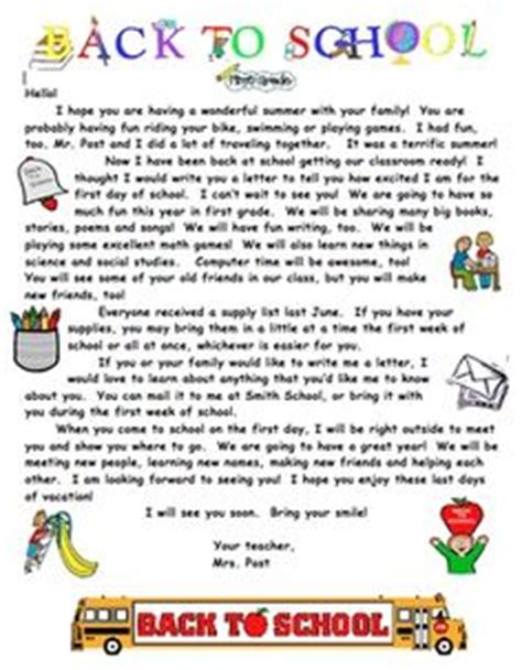 Introduction Letter Welcome Students Back To School Welcome Letters On Introduction Letter Welcome Letters And Parent