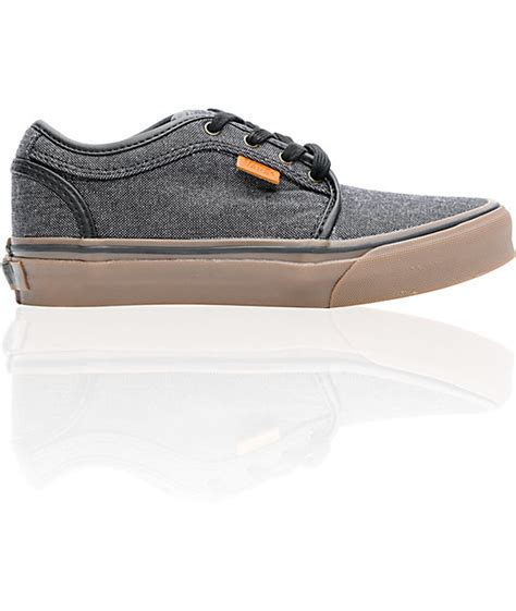 vans boys chukka low oxford canvas black gum shoe at