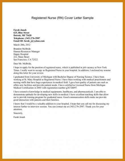 registered cover letter letter format template