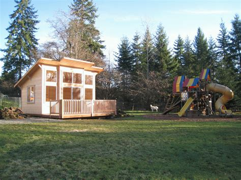 mighty sheds and cabanas gable style tiny house tiny mighty cabana mc1216 cabin with optional deck log cabin