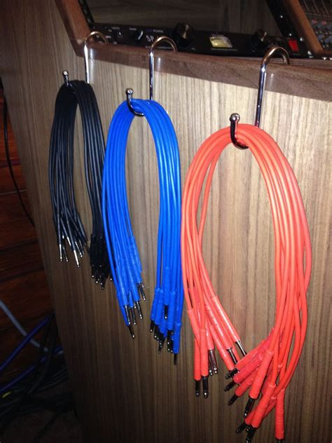 Patch cable hangers (kitchen hooks) @ Beliefspace Studio