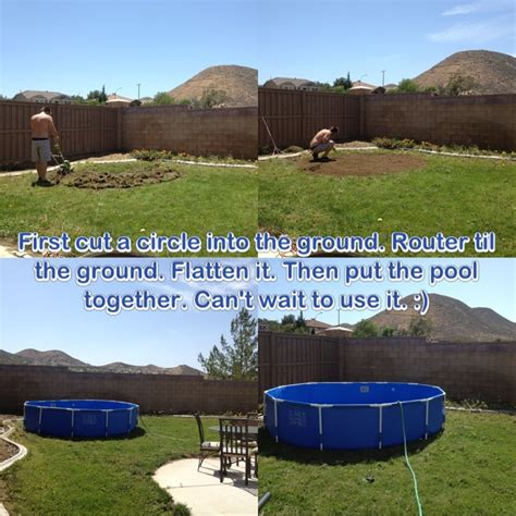 when you put a above ground pool make sure you diy and do