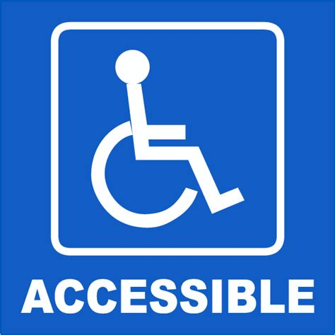 handicap accessible label by safetysign t4322