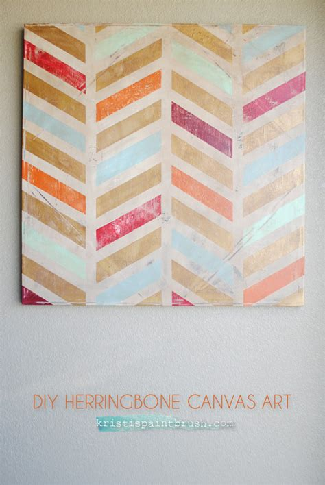 diy canvas projects i should be mopping the floor diy herringbone canvas