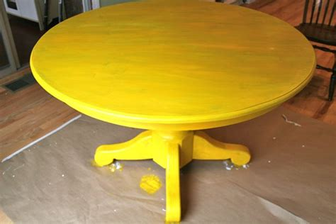 Yellow Kitchen Table Kitchen Table Redo Whipstitch