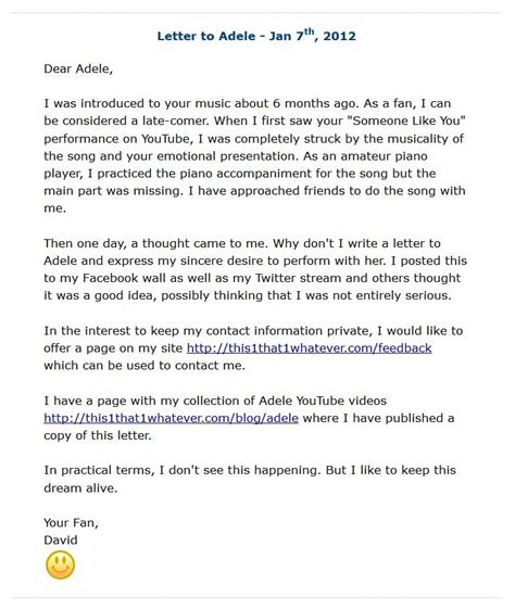 up letter to someone you collection of adele someone like you