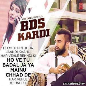 day song lyrics vattan sandhu bds kardi lyrics vattan sandhu ft xtatic