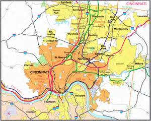 Cincinnati Ohio Map by Similiar Map Of Cincinnati Ohio Suburbs Keywords