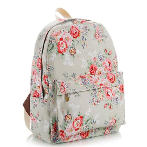 Floral Printed Canvas Backpack floral printed canvas backpack cath kidston