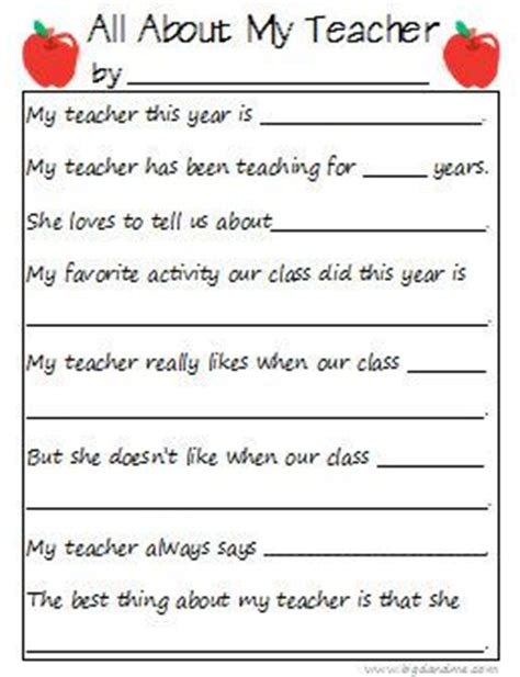 appreciation letter from kindergarten student printable questionnaire