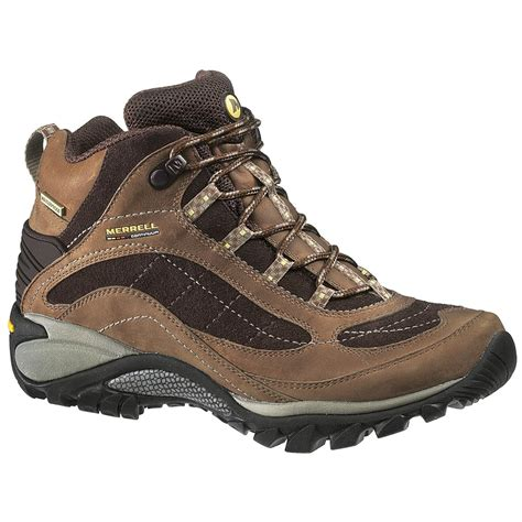 s merrell siren hiking boots waterproof mid
