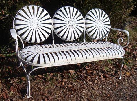 vintage metal garden bench 49 best vintage metal lawn furniture images on pinterest