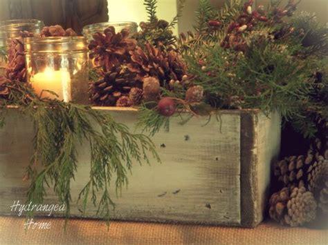 how to make christmas gift box mantel decor hgtv hydrangea home by dawn s designs rustic planter box ideas