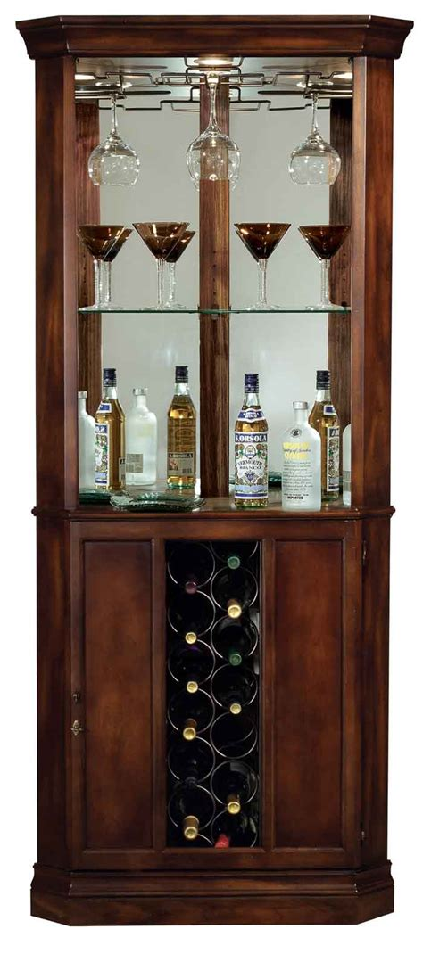 Howard Miller Piedmont 690 000 Corner Wine Cabinet The