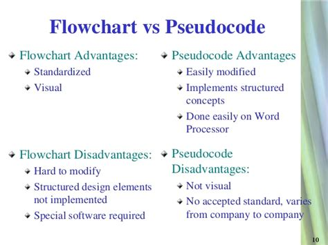 what is the difference between pseudocode and flowchart differences between psuedocode and flowcharts gallery