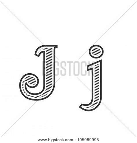 tattoo font letter j font tattoo engraving letter j with shading stock vector