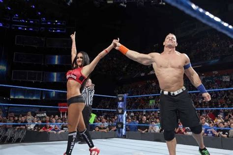 nikki bella engaged john cena got engaged to nikki bella at wrestlemania 33