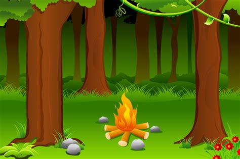 set  camping design elements vector