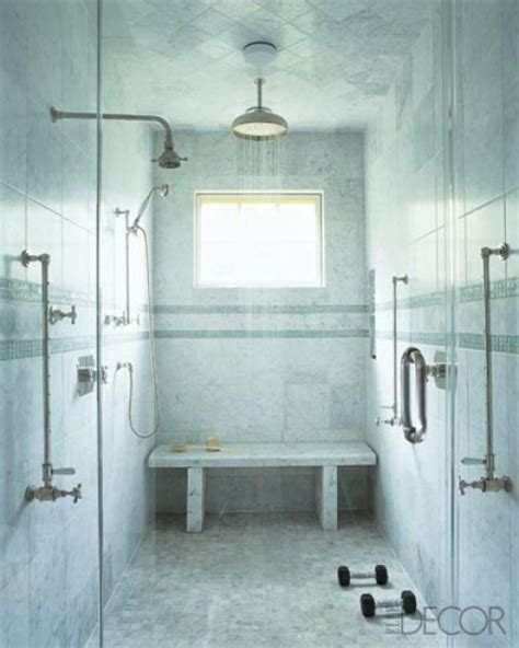 bathroom her bench bathroom stone marble shower walls wainscoting renovation