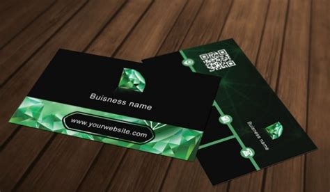 green business card templates psd green business card template psd file free