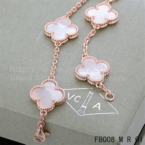 van cleef arpels vintage alhambra bracelet 5 motifs pink
