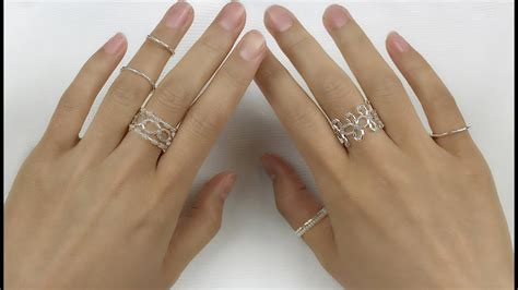 How To Make Handmade Rings - easy diy handmade silver beaded rings tutorial how to