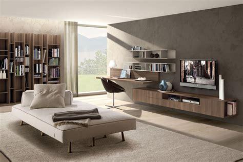 soggiorno studio angolo studio in soggiorno integrato nella libreria o in