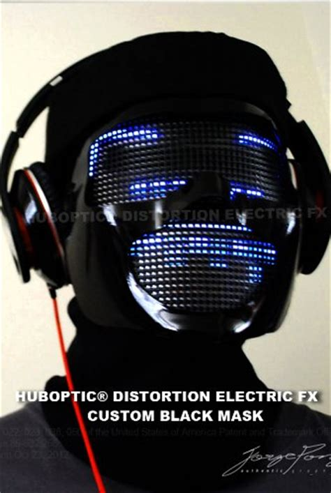 Keyboard Cyborg Office Cko 100 dj mask led light up mask huboptic distortion electric fx