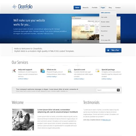 blueline wordpress theme wp corporate wordpress