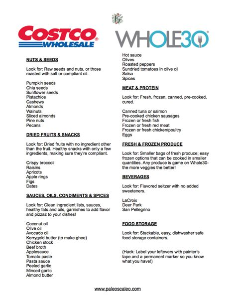 costco shopping list template the only whole30 costco shopping list you ll need