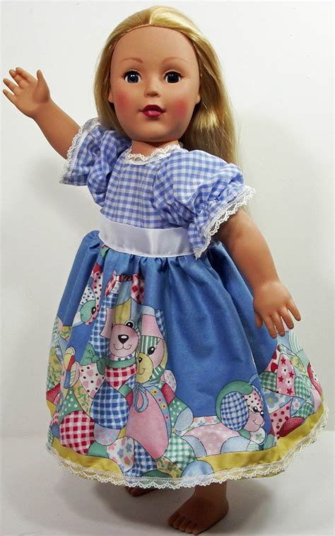American Handmade Clothes - clothes american handmade blue n dress 18 quot inch doll