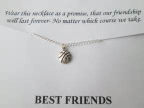 Wedding Shoes Quotes Items Similar To Tiny Basketball Best Friend Necklace Friendship Quote Card On
