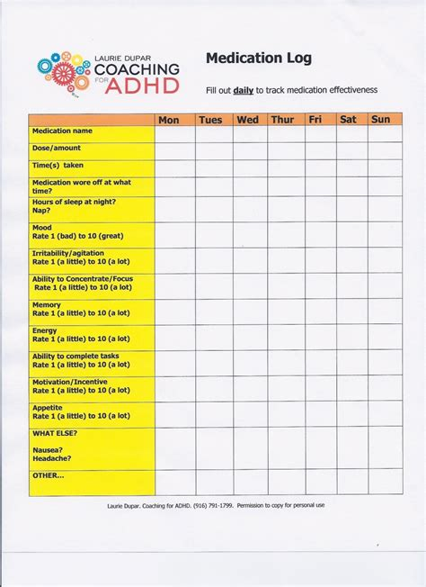 daily planner template adhd free printable med sheet template search results