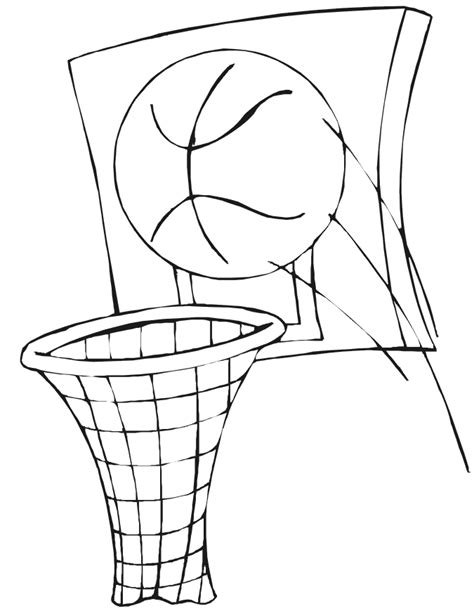basketball backboard coloring page cartoon basketball goal cliparts co