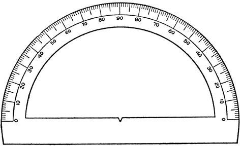 printable protractor half circle semicircular protractor clipart etc