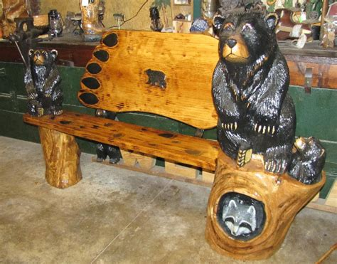 bear bench bear tracks chainsaw carving chainsaw carvings bears