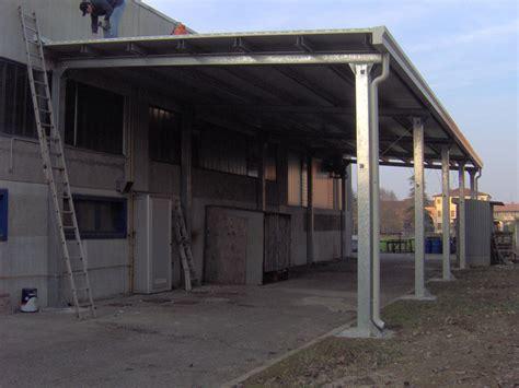 tettoie in ferro usate great tettoia in tubolare zincato e copertura in pannelli
