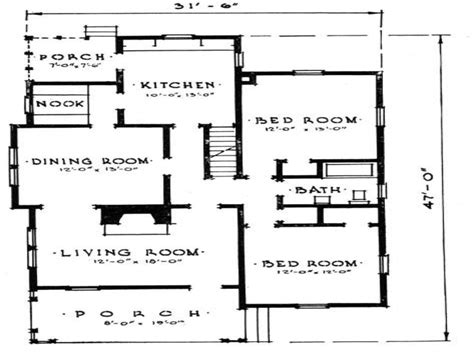 Floor Plans For Small 2 Bedroom Houses Small Two Bedroom House Plans Small Home Plan House Design
