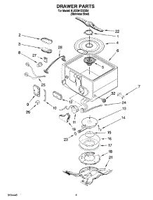 kitchenaid drawer dishwasher parts parts for kitchenaid kudd01dsss0 dishwasher