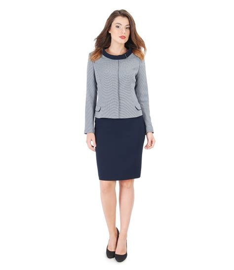 office with viscose jacket and pencil skirt yokko