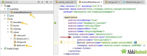 tutorial arcgis android intent filter in android manifest tutorial exle and code
