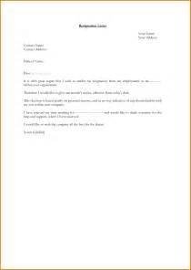 Resignation Letter One Month Notice by 3 Letter Of Resignation With One Month Notice Expense Report