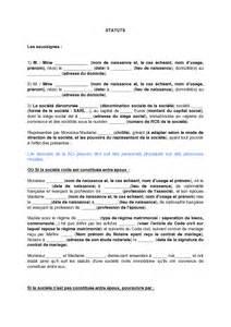 exemple de lettre gratuit de statuts types soci 233 t 233 civile
