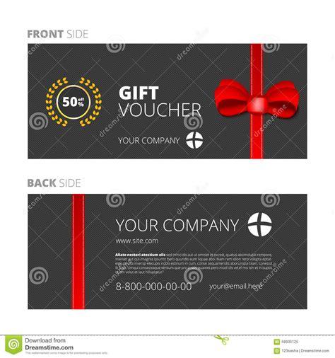 Gift Diskon design of voucher and gift certificate stock vector