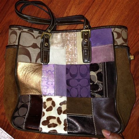 Coach Patchwork Gallery Tote - coach sale coach patchwork gallery tote bag f10515