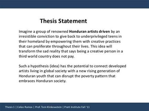 thesis in three 3 point thesis statement home ecoco inc