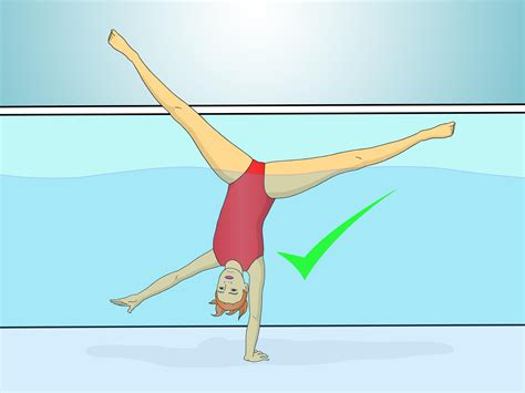 how to how to do a handstand in the pool with pictures wikihow