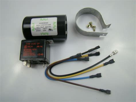 how to install a start capacitor kit bmi 330 volt start capacitor and relay kit hc95de020 ebay