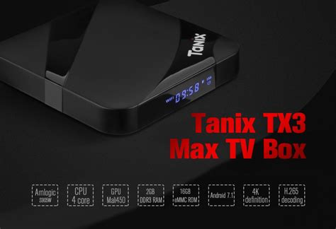 Android 7 1 Tv Box Amlogic S905w Max 1gb Ram 16gb Quadcore 4k tv box tanix tx3 max android 7 1 amlogic s905w 2gb